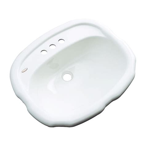 thermocast aymesbury drop in bathroom sink in white 82400