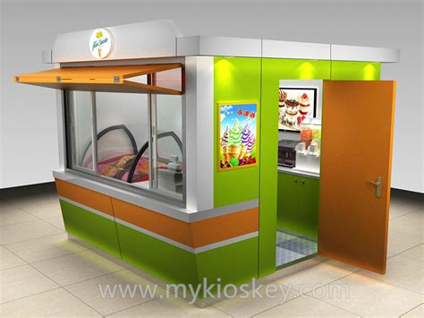 Outdoor Security Gelato Ice Cream Kiosk Designs For Sale