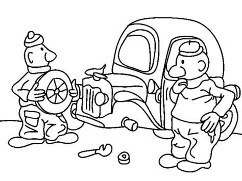 Buurman En Buurman Kleurplaten by Kleurplaat Buurman En Buurman Repareren Auto Kleurplaatje Nl