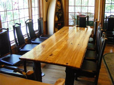 Handmade Rustic Hickory Table by Opa's Custom Woodworking
