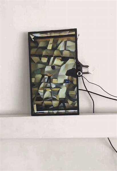 Cubist Mirror Painting Picasso Reflection Into Reflects