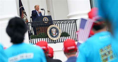 trump tells crowd covid disappearing week