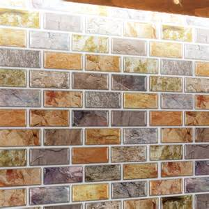 kitchen backsplash stick on tiles adhesive mosaic tile backsplash color subway 10 pieces peel n stick tile 9 5 sq ft