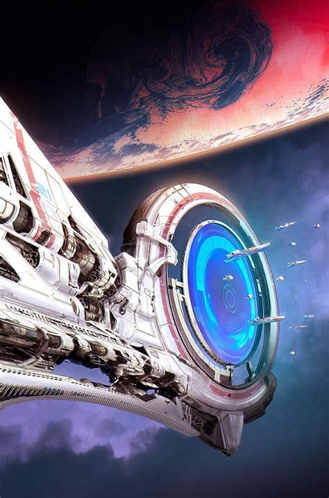 science fiction concept for titan a e by titan s portal by santamaria sci fi portal sci fi and spaceship