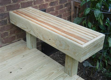 Deck Bench Design by Flour Sack Friday With Kray Deck Bench