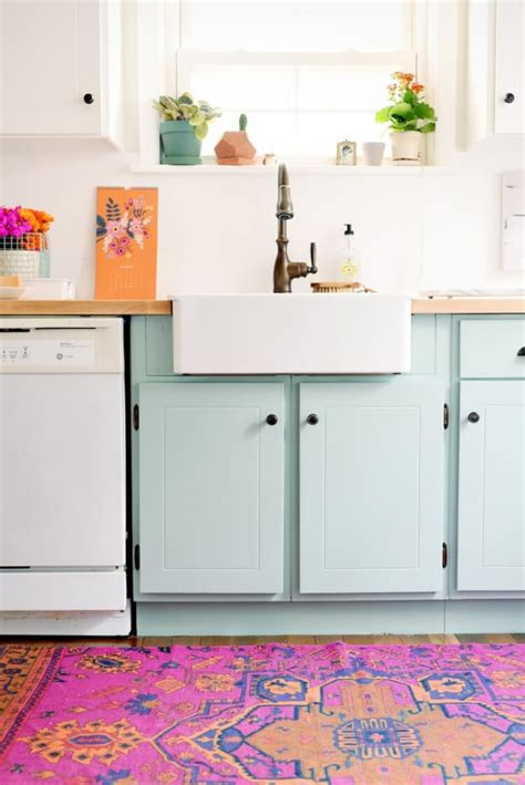 colorful kitchen cabinets teal cabinet paint colors hey let s make stuff 2340