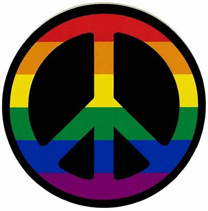 Peace Stickers Sticker Symbol Rainbow Decals Decal