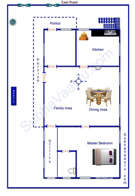 east facing house plan images  pinterest floor