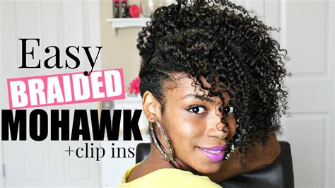 Easy Braided Mohawk Natural Hair