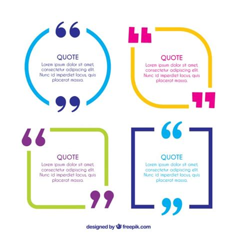colorful quote frames  quotation marks vector