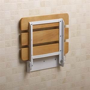 Age UK Fold Down Shower Seat - Wall Mounted