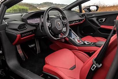 Lamborghini Huracan Evo Spyder Interior Dubai Road