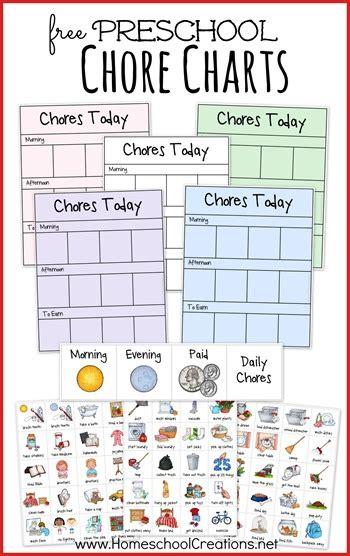 free preschool chore chart system free homeschool deals 580 | cap51