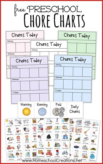 preschool chore chart system  homeschool deals