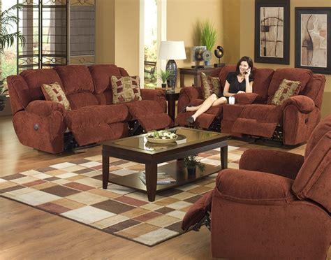 conrad  piece power reclining sofa set  chianti color