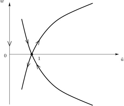 saddle point unstable stable equation its manifolds