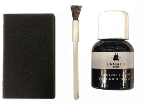 teindre canapé cuir kit de teinture noir pour changer la couleur de vos chaussures