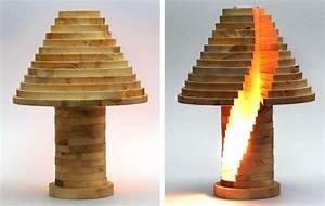 Lampe Bois Design : lampe et suspension design 55 id es diy faciles imiter ~ Preciouscoupons.com Idées de Décoration