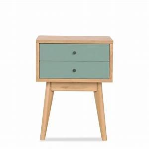 Meuble Rangement Scandinave : table de chevet scandinave skoll 2 tiroirs by drawer ~ Teatrodelosmanantiales.com Idées de Décoration