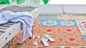 Tapis Carreaux De Ciment Saint Maclou : tapis contemporain tapis exterieur namada multi couleur saint maclou d co tapis ext rieur ~ Nature-et-papiers.com Idées de Décoration