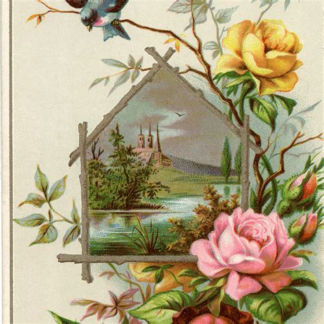 soap trade cards  roses  graphics fairy