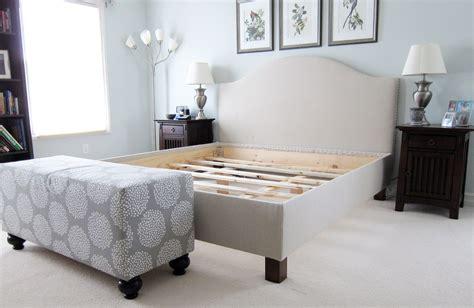 diy pottery barn upholstered bed