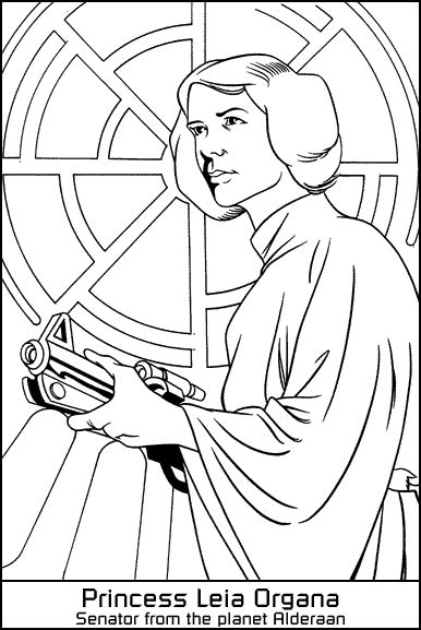 Princess Leia Coloring Pages To Print