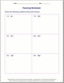 factoring numbers worksheets free worksheets for prime factorization find factors of a number