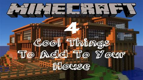 minecraft  cool   add   house tutorial youtube