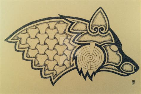 Norse Tattoo Designs Viking Geri And Freki Tattoo Design