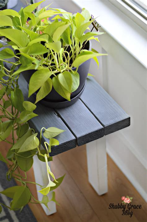 diy wood plant stand    space beautiful