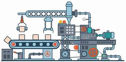 Animation Machine Industri Manufactura Esbelta Manufacturing Virtual