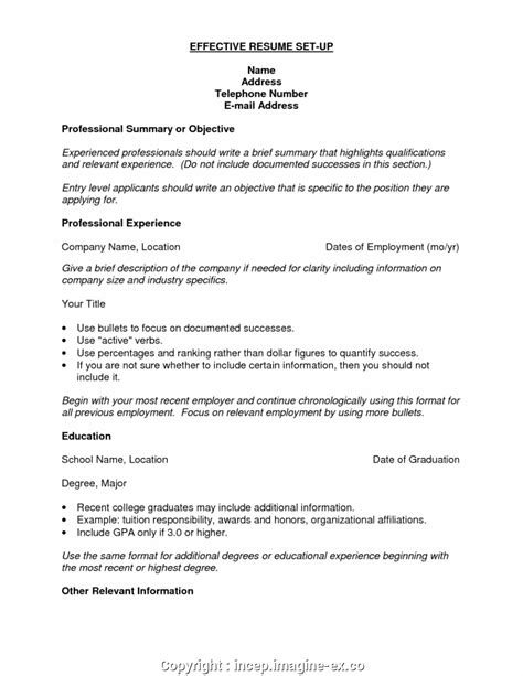 Set Up Resume Free by Setting Up A Resume Duynvaerder Nl