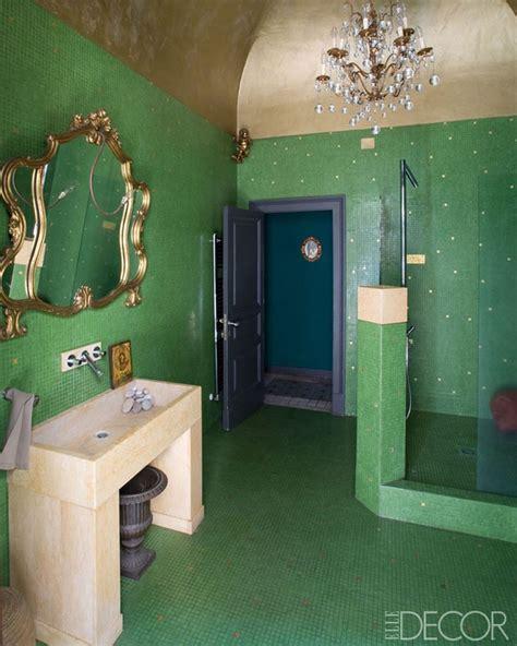 trend alert colorful bathroom designs  elle decor