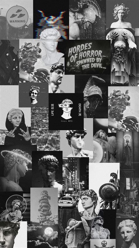 black collage aesthetic wallpapers