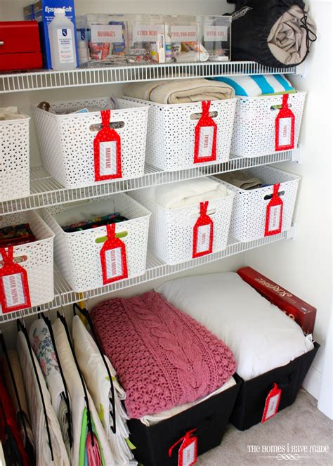 Organizing The Linen Closet by Ideas For Organizing The Linen Closet The Homes I Made