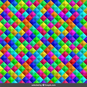 3d cube colorful pattern Vector | Free Download