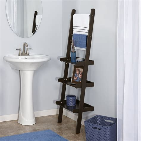 ideas bathroom ladder shelf  home ideas