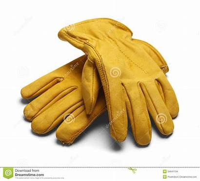 Gloves Leather Glove Construction Clipart Yellow Background