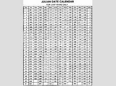 Calendar 2017 Julian Date Calendar Printable 2018