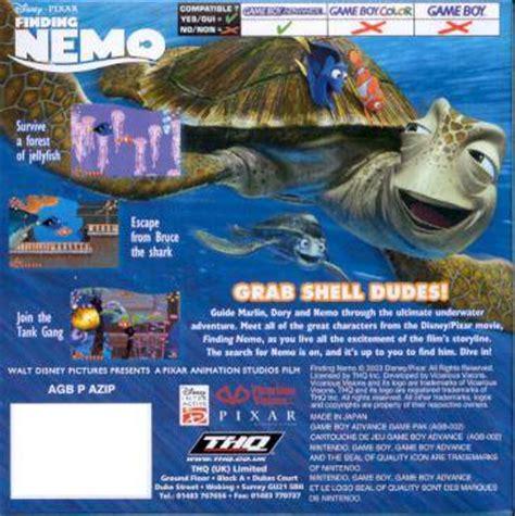 3ds finding nemo escape to the big blue disney pixar finding nemo box for boy advance