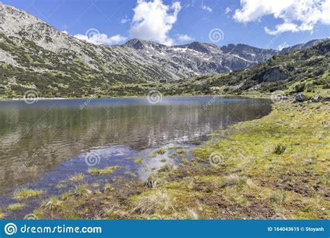 The Lower Fish Lake Ribni Ezera, Rila Mountain, Bulgaria Stock Image - Image of region ...