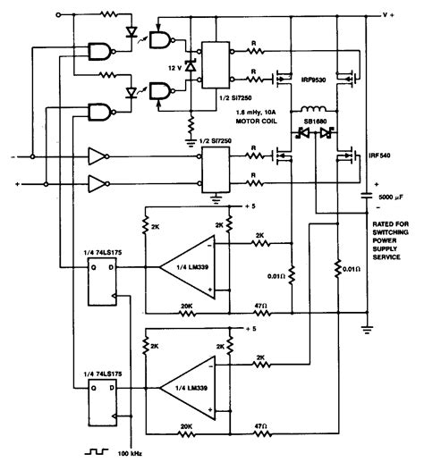 Current Limiting Coil Driver Circuit Diagram Electronic