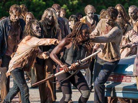 walking dead michonne zombies season zombie katana amc deer walker disease into entertainment cheatsheet series