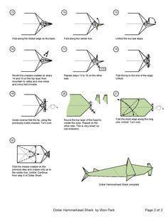Origami Animals Pinterest Sharks Dollar Schematic