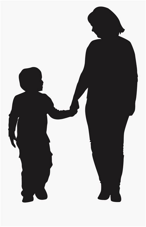 Mother Child Silhouette Son - Mother And Son Shadow , Free