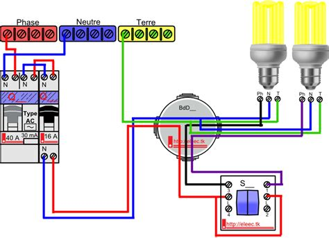 schema electrique interrupteur simple allumage