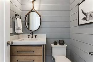 Refined and Refreshing: Trendy Powder Rooms in Gray and ...