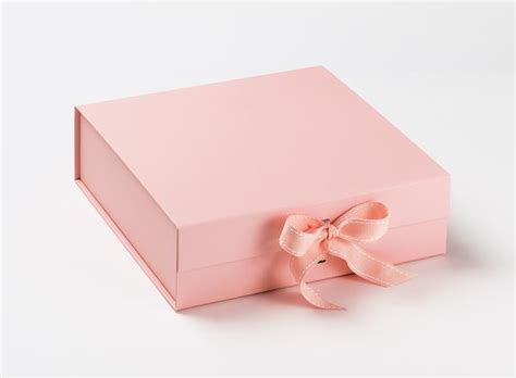 sle new quartz pale pink large gift box with changeable ribbon foldabox uk and europe