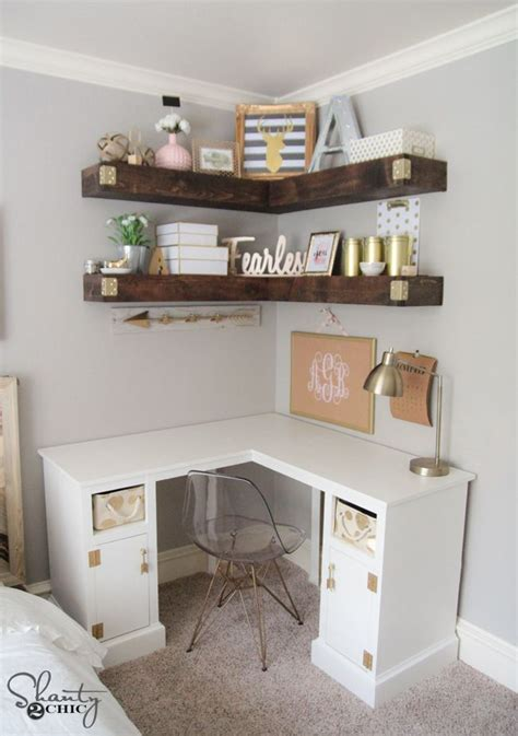 diy corner desk shantys tutorials bedroom room